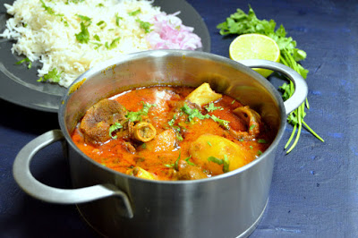 Aloo Gosht ~ Indian Style Potato & Mutton Curry