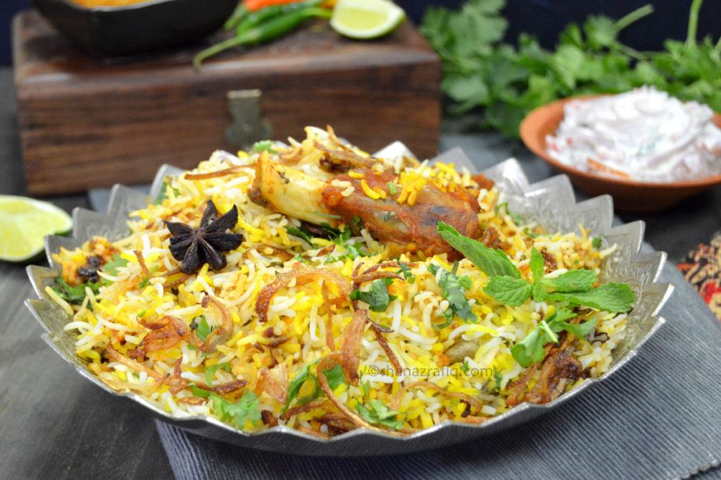 Kachche Gosht Ki Dum Biryani ~ Hyderabadi Mutton Biryani